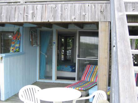 Deck on Ocean side into Bedroom
